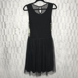 Anthropologie Dresses - Anthropologie Weston Wear Sweater Lace Tulle Dress